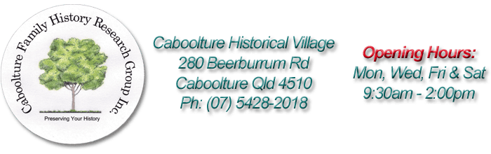 Caboolture Family History Research Group Inc